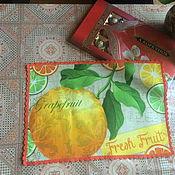 Для дома и интерьера ручной работы. Ярмарка Мастеров - ручная работа Салфетки Фрукты. Handmade.