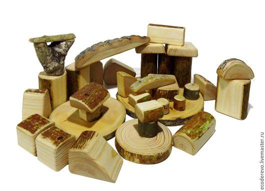 """Развивающие игрушки ручной работы. Ярмарка Мастеров - ручная работа. Купить Деревянный конструктор """"Лесное царство"""" 35 деталей. Handmade."""