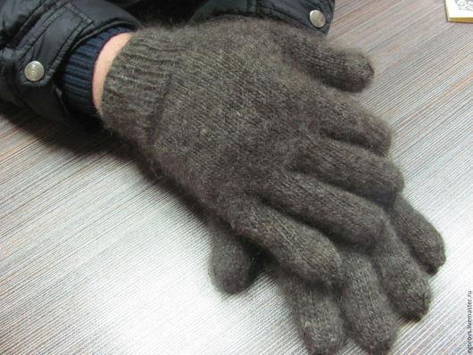 """Варежки, митенки, перчатки ручной работы. Ярмарка Мастеров - ручная работа. Купить Перчатки пуховые """"Любимому"""". Handmade. Темно-серый"""