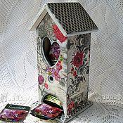 """Для дома и интерьера ручной работы. Ярмарка Мастеров - ручная работа Чайный домик """"Розы в кружевном тумане"""". Handmade."""