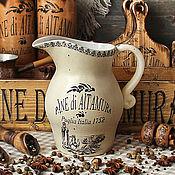 """Посуда ручной работы. Ярмарка Мастеров - ручная работа Кувшин керамический """" Лето В Италии"""". Handmade."""