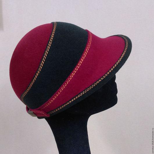 Шляпы ручной работы. Ярмарка Мастеров - ручная работа. Купить . Элегантная шляпка-кепи в стиле CASUAL.. Handmade. Комбинированный