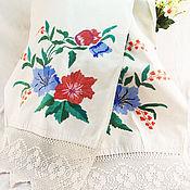 Винтаж handmade. Livemaster - original item Towel with embroidery 50 years. Handmade.