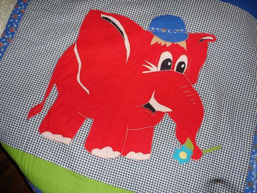"""Пледы и одеяла ручной работы. Ярмарка Мастеров - ручная работа. Купить Коврик для детей """"СЛОНИК"""". Handmade. Комбинированный, для малышей, яркий"""