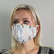 Защитные маски ручной работы. Ярмарка Мастеров - ручная работа Маска медицинская многоразовая. Handmade.