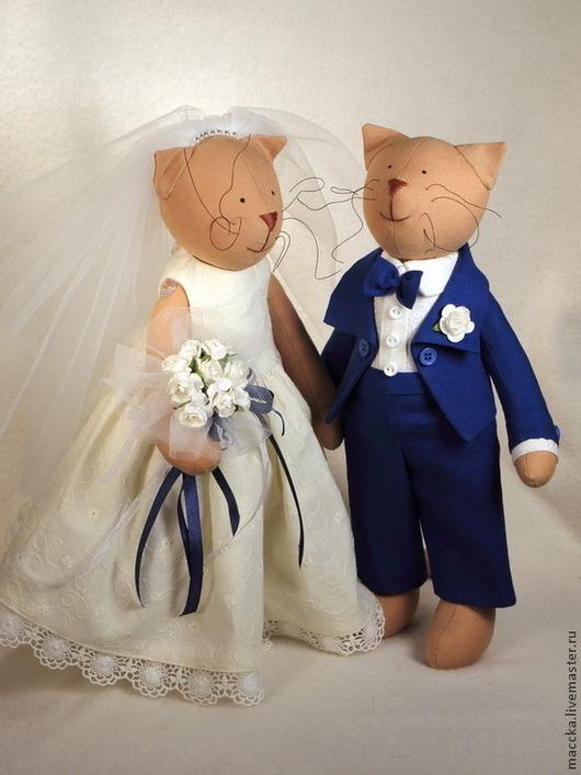 Куклы Тильды ручной работы. Ярмарка Мастеров - ручная работа. Купить Тильда Свадебные кошки. Handmade. Тильда кошки, семья
