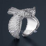 Украшения handmade. Livemaster - original item Owl bird ring. Handmade.