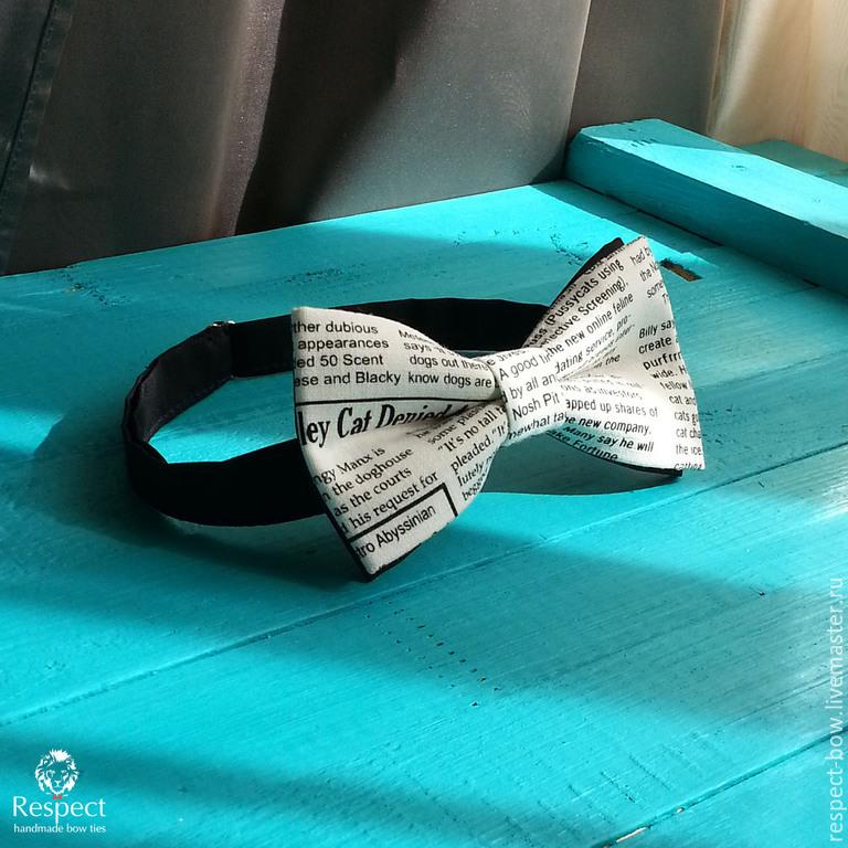 Галстуки, бабочки ручной работы. Ярмарка Мастеров - ручная работа. Купить Галстук бабочка Newspaper / бабочка-галстук с газетным принтом. Handmade.