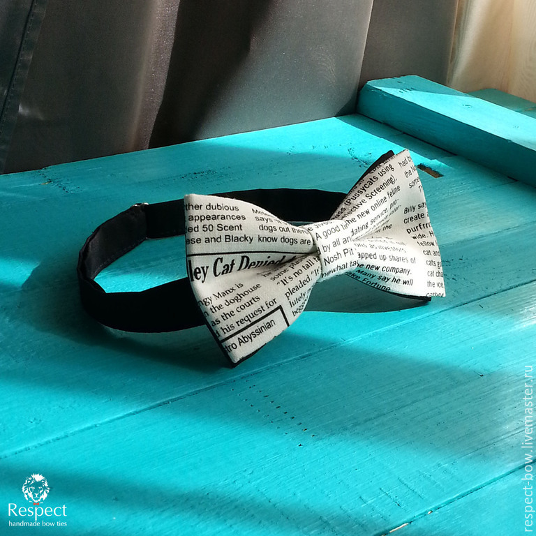 The Newspaper tie / bow tie with newspaper print, Ties, Moscow,  Фото №1