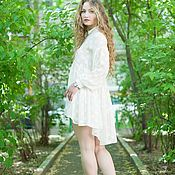 Одежда handmade. Livemaster - original item dresses: Ruffled white shirt Dress. Handmade.
