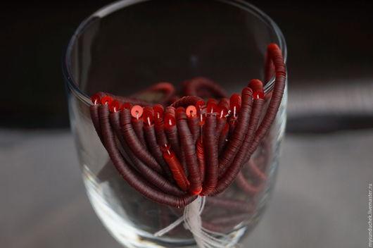 Цвет Перламутровый красный (Perliane Rouge).  В наличии  6 нитей!