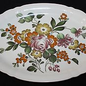 Винтаж handmade. Livemaster - original item Large serving dish with flowers, Hutschenreuther, Germany. Handmade.