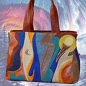 """Сумки и аксессуары handmade. Livemaster - original item Leather bag """"Northern Lights"""". Handmade."""