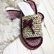 Обувь ручной работы handmade. Livemaster - original item Women`s knitted Slippers 35-36r. Handmade.