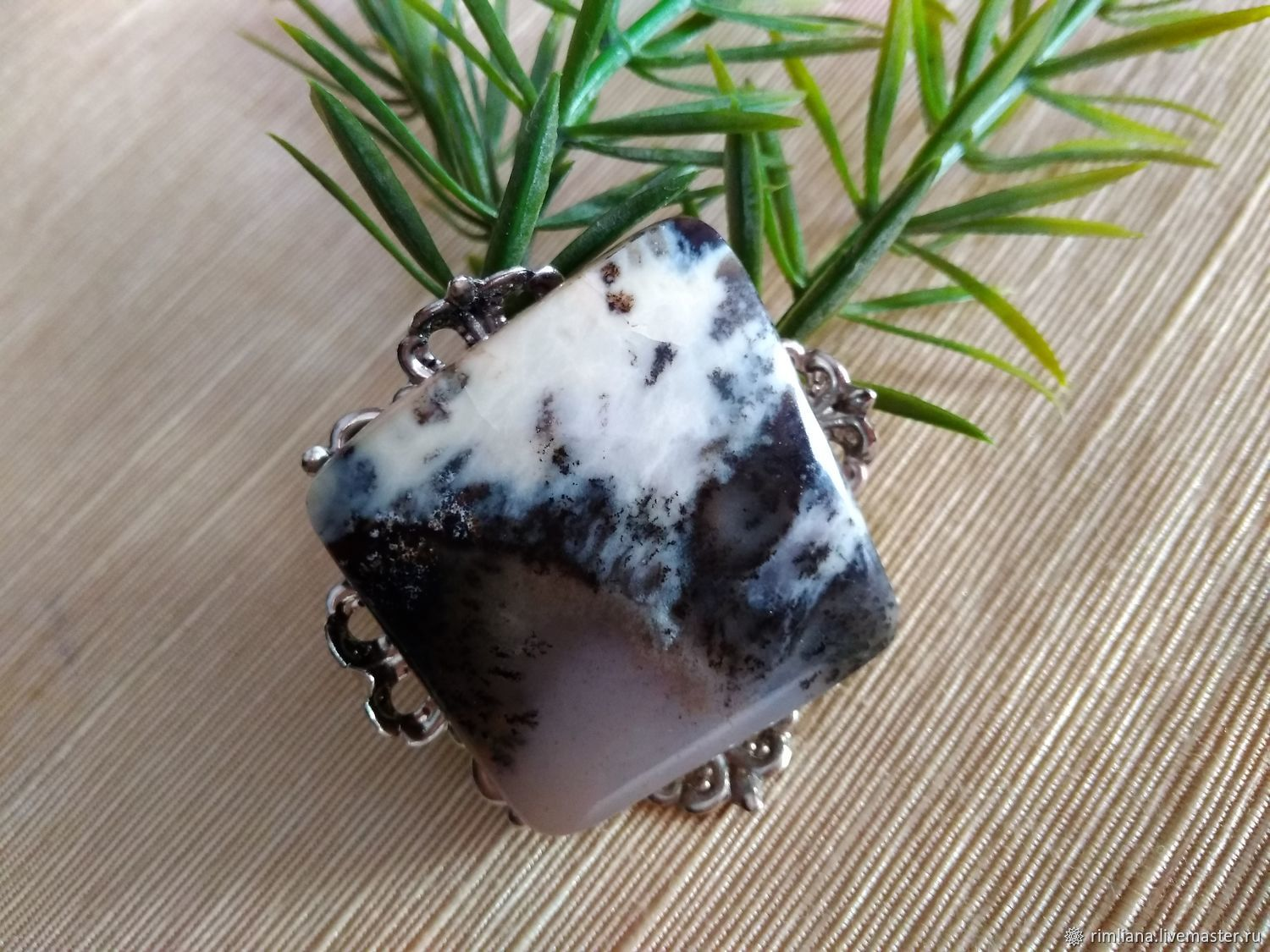 Brooch author's 'Avalanche' Brazilian agate natural, Brooches, Moscow,  Фото №1