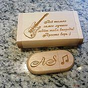 Сувениры и подарки handmade. Livemaster - original item Wooden flash drive with engraving in a box, gift, souvenir. Handmade.