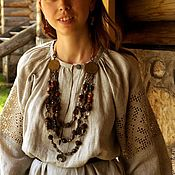 Русский стиль handmade. Livemaster - original item Shirt women`s ancient style with lace Arepa. Handmade.