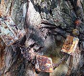 Украшения handmade. Livemaster - original item Choker Traces of history. Antique agate,tiger eye matte. Handmade.