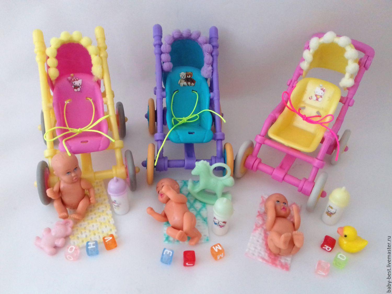 Кукольная коляска своими руками для маленьких кукол