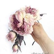 Украшения handmade. Livemaster - original item Silk roses. Rim with roses