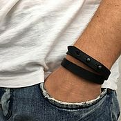 Украшения handmade. Livemaster - original item Lace bracelet: Leather bracelet. Handmade.