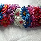 Резинка для волос ручной работы. Ярмарка Мастеров - ручная работа Резинка для волос: Цветок астра. Handmade.