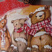 """Для дома и интерьера ручной работы. Ярмарка Мастеров - ручная работа """"Медвежата"""" вешалка. Handmade."""