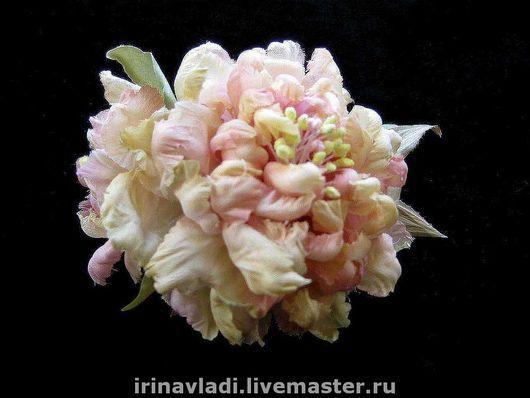 цветы из шелка, шелковые цветы брошь,шелковый цветок заколка  розовый пион брошь, розовый пион заколка для волос, обруч для волос цветок,ободок с цветами, браслет женский с цветком,украшения из шелка