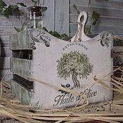 """Для дома и интерьера ручной работы. Ярмарка Мастеров - ручная работа """"Олива"""", ящичек для специй.. Handmade."""