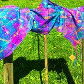 Аксессуары ручной работы. Ярмарка Мастеров - ручная работа Валяный шарф-палантин. Handmade.