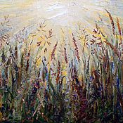 """Картины и панно ручной работы. Ярмарка Мастеров - ручная работа по мотивам """"Трав"""". Handmade."""