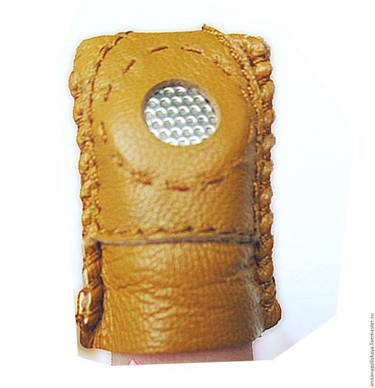 Шитье ручной работы. Ярмарка Мастеров - ручная работа. Купить Наперсток кожаный (Китай). Handmade. Оранжевый, наперсток, кожаный