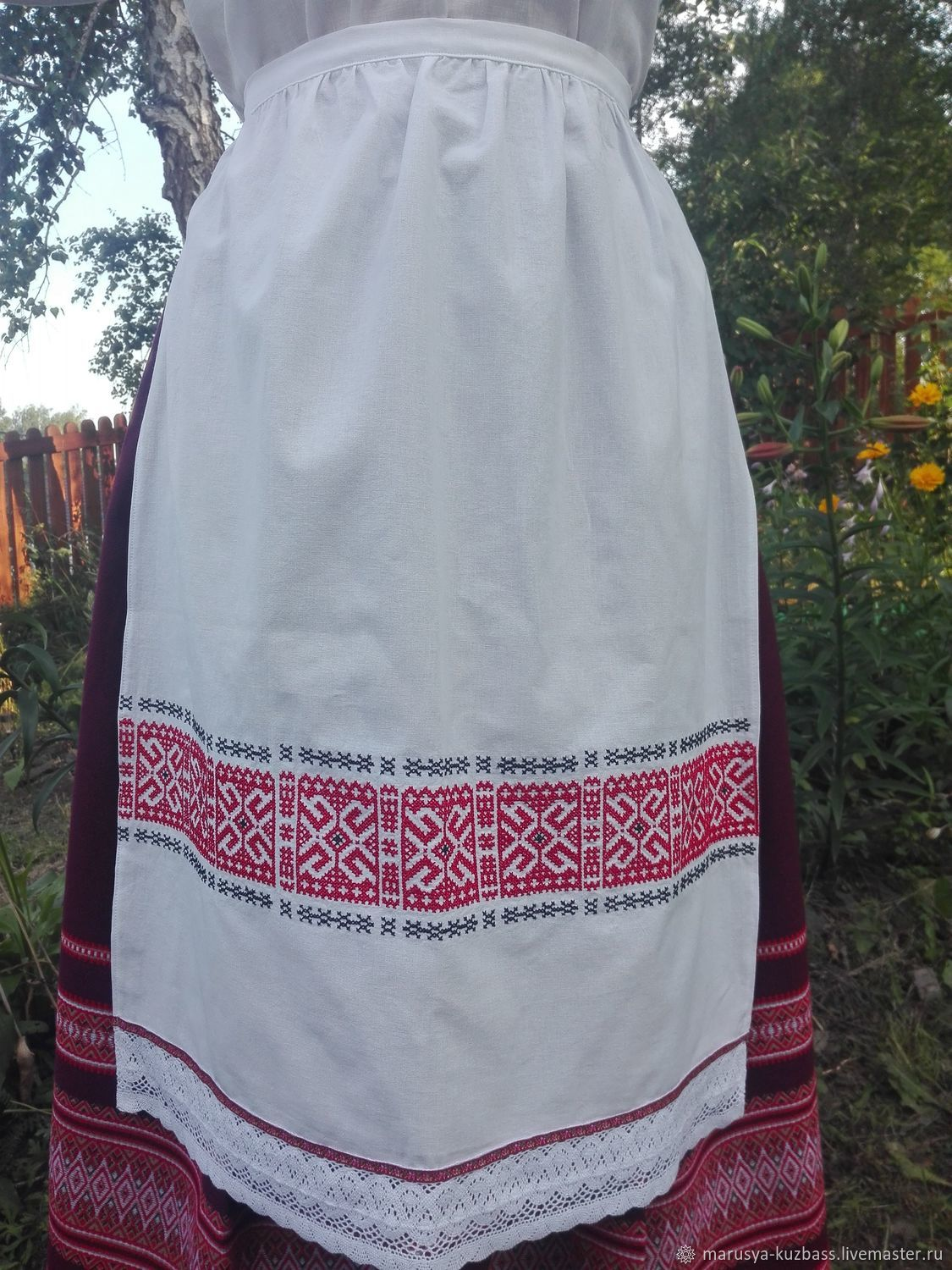 The traditional apron embroidered, Costumes3, Kemerovo,  Фото №1