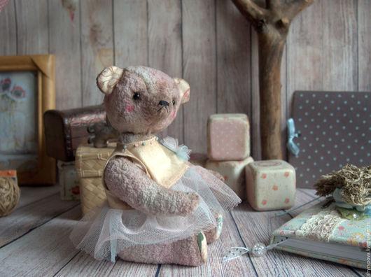 Мишки Тедди ручной работы. Ярмарка Мастеров - ручная работа. Купить Краля. Handmade. Бледно-розовый, игрушка, милая игрушка