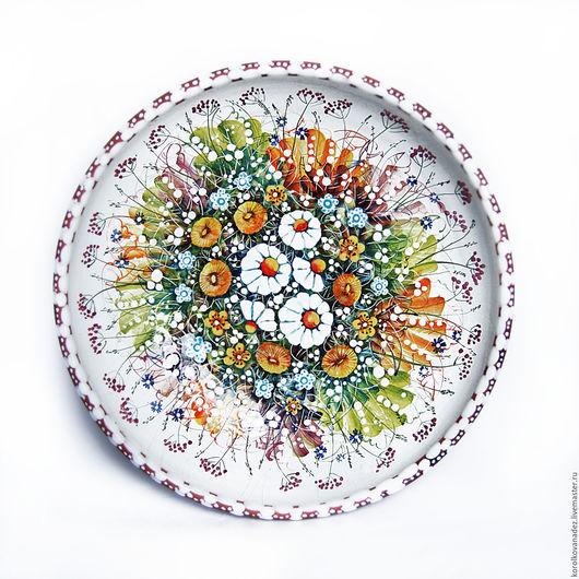 Салатники ручной работы. Ярмарка Мастеров - ручная работа. Купить Керамическое блюдо. Handmade. Разноцветный, посуда с росписью, блюдо для фруктов