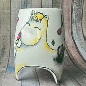 """Посуда ручной работы. Ярмарка Мастеров - ручная работа """"Фрекен Снорк"""" - чашка с ножками. Handmade."""