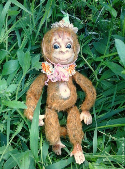 Цирковая обезьянка Лукас. Авторская, интерьерная кукла.