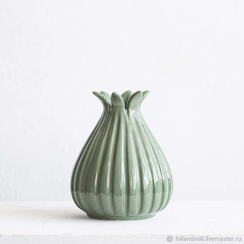 Vase 'Asparagus' M, Vases, Vyazniki,  Фото №1