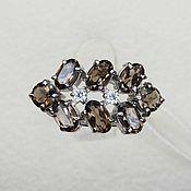 Украшения handmade. Livemaster - original item Silver ring rauchtopas and cubic Zirconia. Handmade.