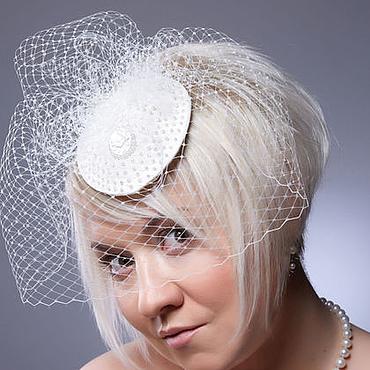 """Свадебный салон ручной работы. Ярмарка Мастеров - ручная работа Шляпка для невесты """"Лесли"""". Handmade."""