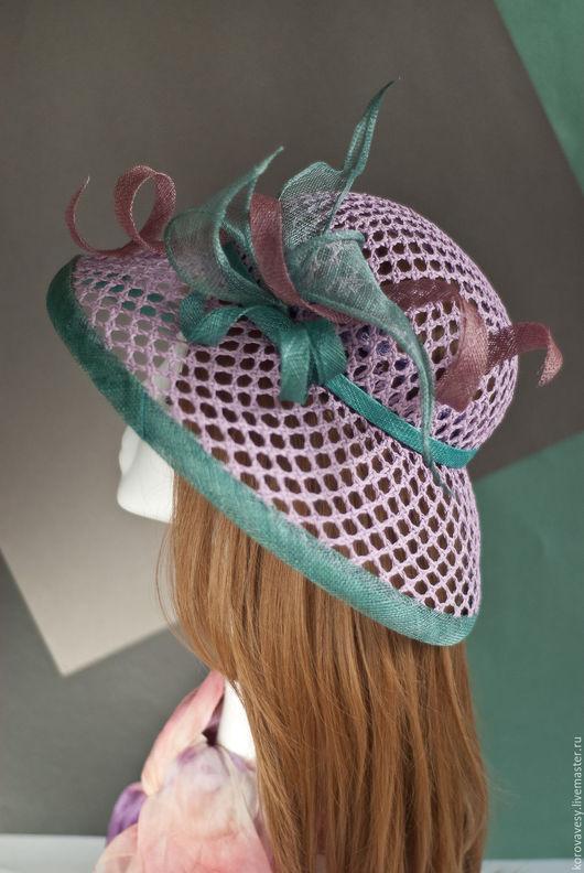 """Шляпы ручной работы. Ярмарка Мастеров - ручная работа. Купить """"Сиреневое утро"""". Handmade. Сиреневый, летняя шляпа, шляпа для скачек"""