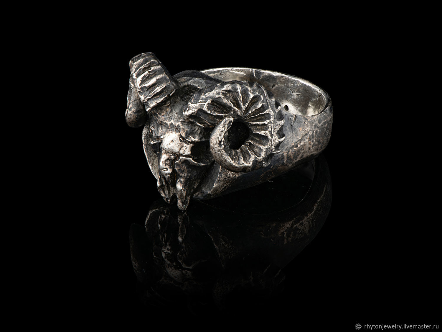 Aries-ring with the skull of a RAM, Ring, Kostroma,  Фото №1