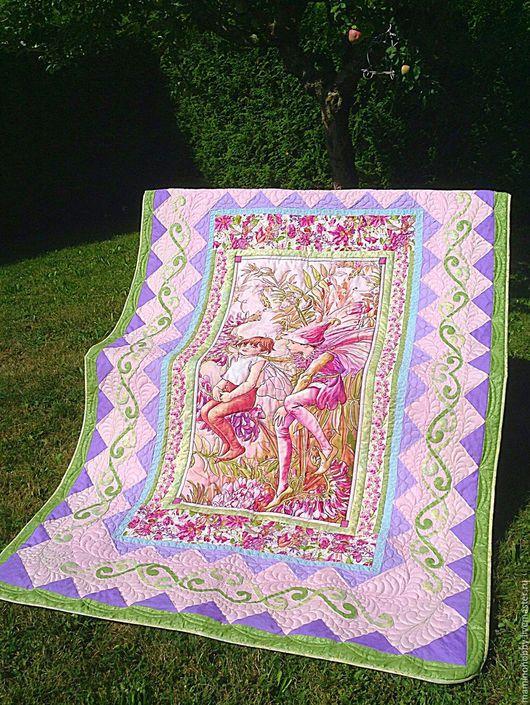 Текстиль, ковры ручной работы. Ярмарка Мастеров - ручная работа. Купить Лоскутный плед в подарок Шёпот на заре. Handmade. Одеяло