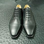 Обувь ручной работы handmade. Livemaster - original item Oxfords with brogation, made of natural matte leather!. Handmade.