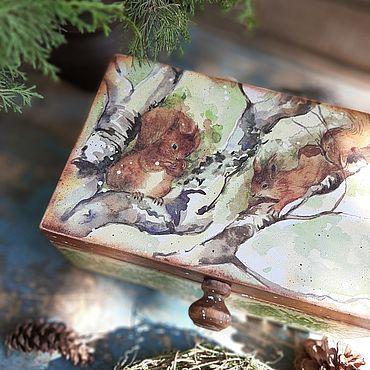 """Для дома и интерьера ручной работы. Ярмарка Мастеров - ручная работа """"Белка песенки поет..."""" шкатулка, короб. Handmade."""
