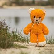 Куклы и игрушки ручной работы. Ярмарка Мастеров - ручная работа Оранжевый плюшевый мишка. Handmade.