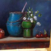 Картины и панно ручной работы. Ярмарка Мастеров - ручная работа Натюрморт винтажный. Handmade.