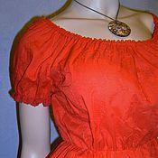 Одежда handmade. Livemaster - original item Blouse (top) of sewing (red). Handmade.
