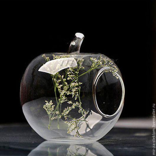 Другие виды рукоделия ручной работы. Ярмарка Мастеров - ручная работа. Купить Яблоко стеклянное   для создания мини-садиков. Handmade.