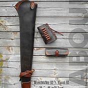 Сувениры и подарки handmade. Livemaster - original item Scabbard, pouch, stock case for Winchester 92 Rossi 92 rifle. Handmade.